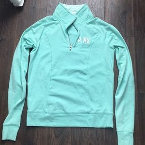 Mint green yoga 1/4 zip up